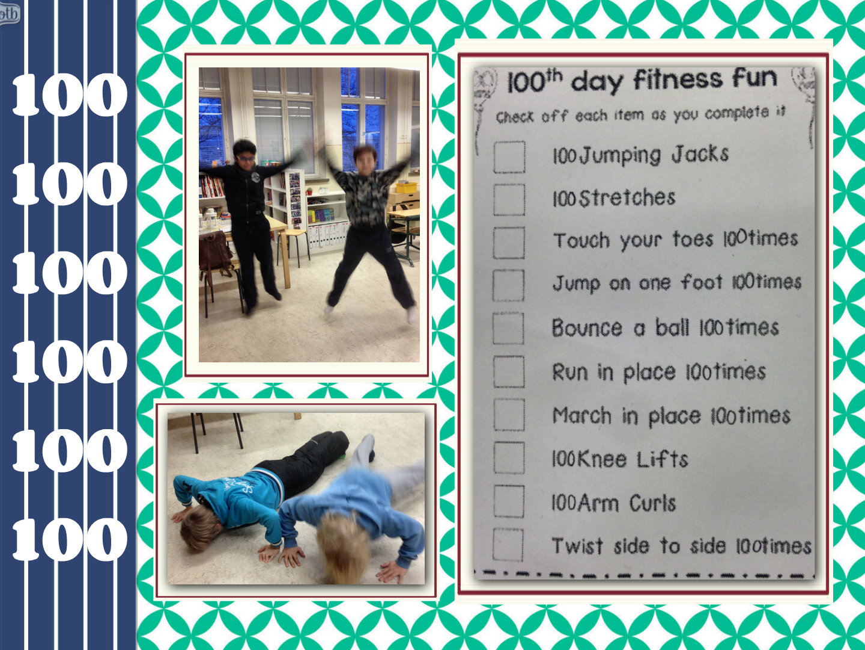 100th Day Fitness Fun English Classes At Cygnaeus School