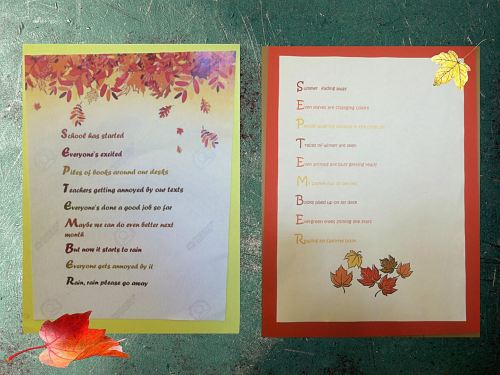 small resolution of September Acrostic Poems   English Classes at Cygnaeus School