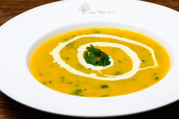 Carrot and Coriander Soup © Sue Todd 2014
