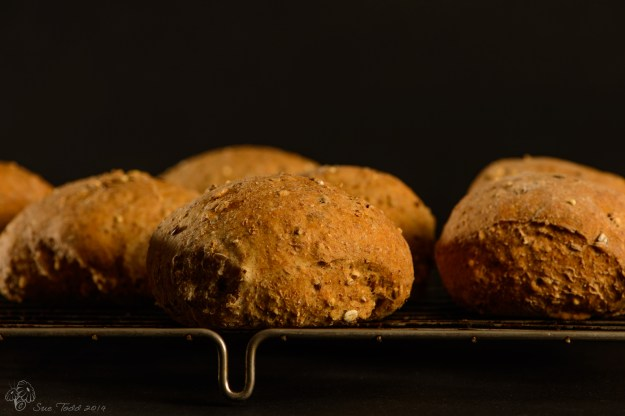 Every Day Bread - Wholemeal buns © Sue Todd 2014