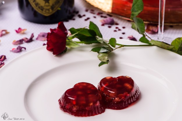 Pomegranate and Rum Jelly. © Sue Todd 2015