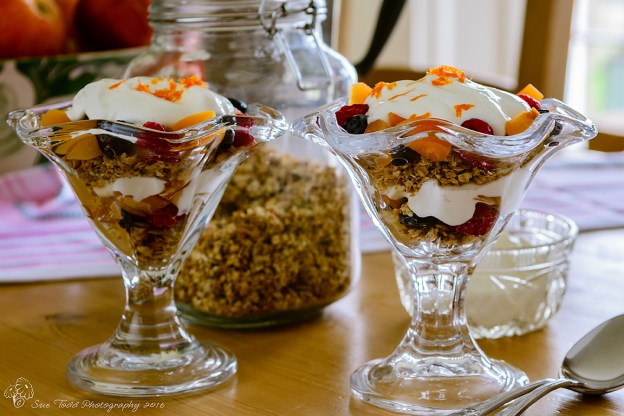Granola, fresh fruit and yoghurt © Sue Todd Photography 2016