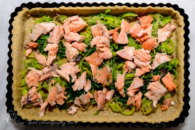 Salmon and watercress tart Sue Todd Photography 2016