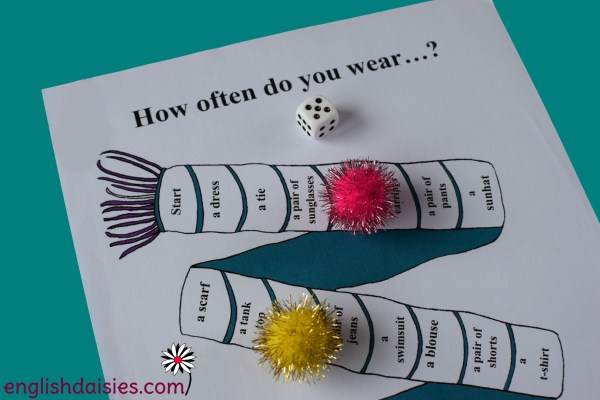 Adverbs of Frequency Game - English Daisies