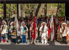 The Blackfoot Tribe. One of the few remaining Indigenous peoples