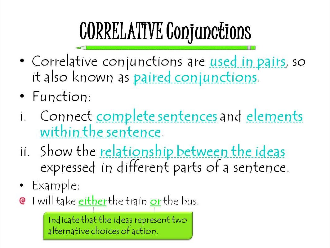 Correlative Conjunctions