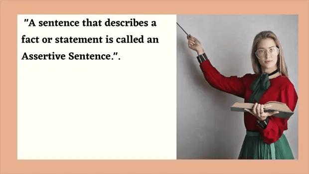 Assertive sentence
