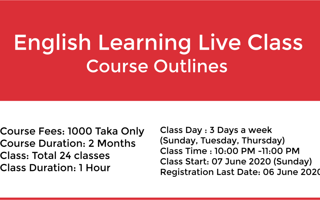 English Learning Live Class Course Outlines