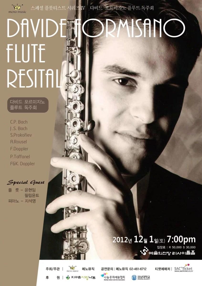 Davide Formisano Flute Recital