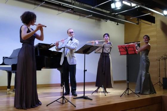 F. Mendelssohn - Sommernachtstraum for 4 Flutes, Scherzo op. 61/1, Bearbeitung H.A. Cohen - Kathrin Christians (flute), Prof. Philipp Jundt (flute), Kim Soo-youn (flute), Prof. Yoon Hyunim (flute) - PHOTO: Charles Ian Chun