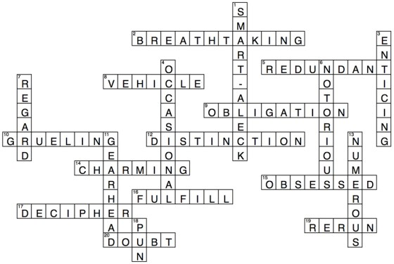 Vocab Challenge Answers 2 March 2016