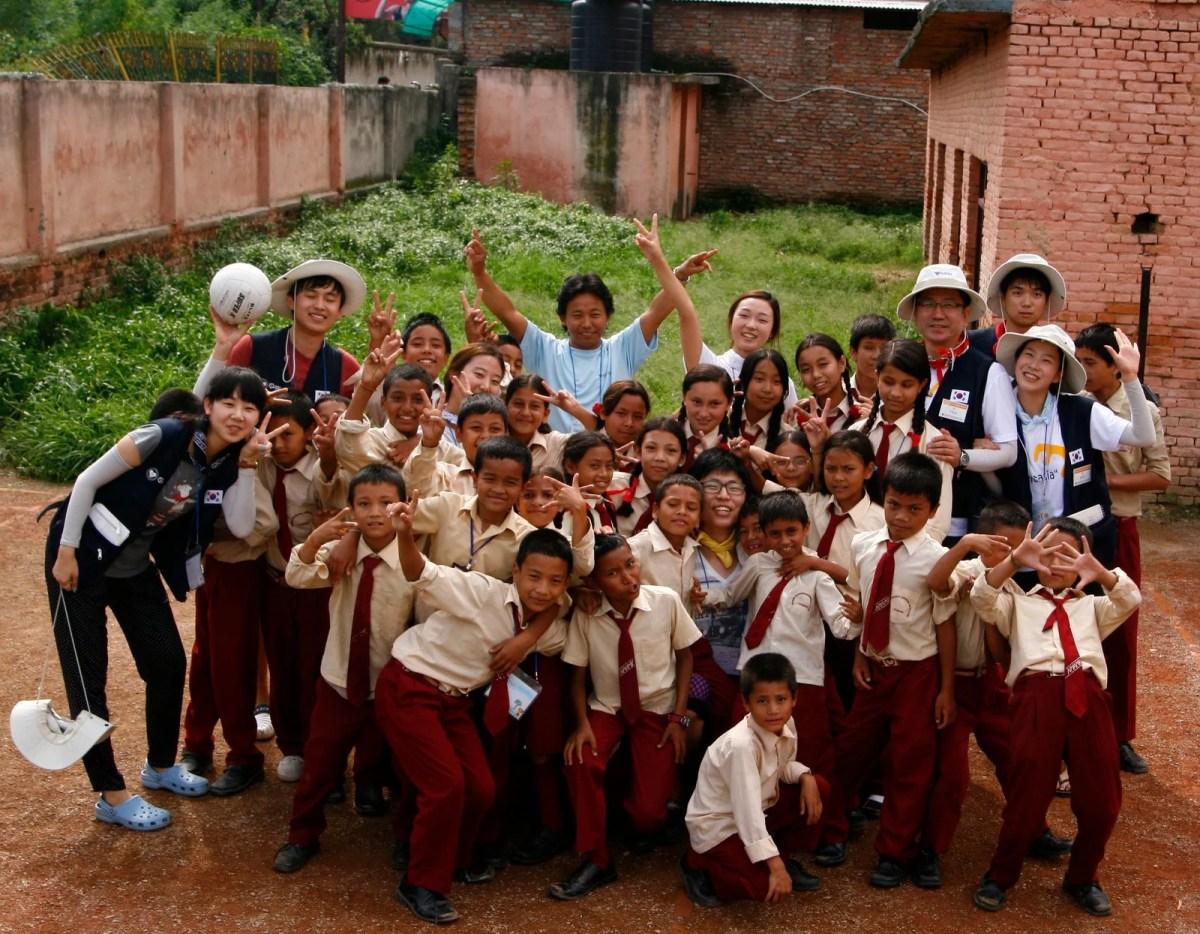 Korea's aid to Namuna Machhindra School, Nepal