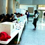 Preparing to cast a vote in Shalom Hall (PHOTO: Lee Su-hyun)