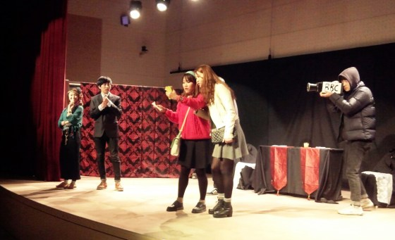 "English Literature students perform ""Somebody Famous"" (PHOTO: Han Jini)"