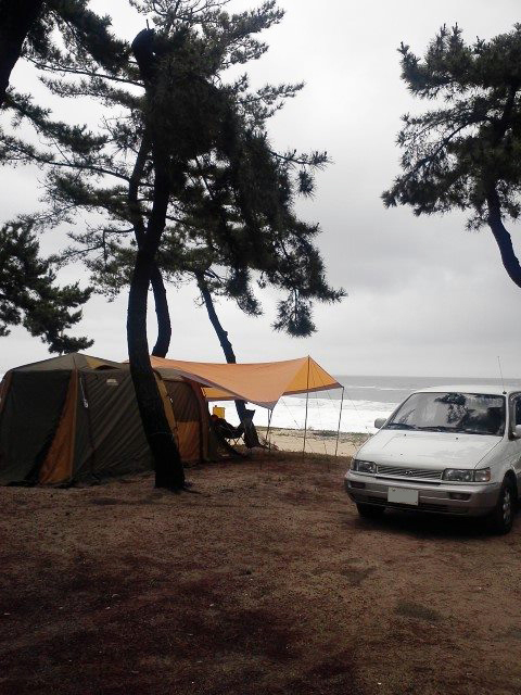 Camping with the family at a site near Gangreung. Photo: Eldin Husic