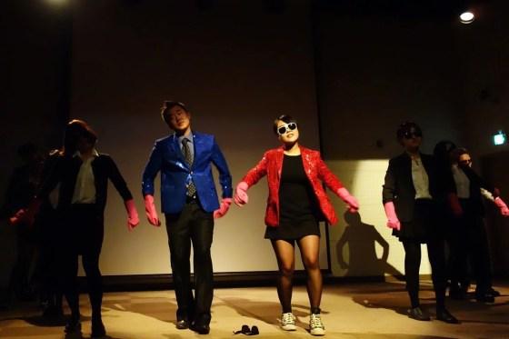 "Student council members dance to ""Jja ra ppa ppa"" and ""Gangbuk Meot-jaengi"". (PHOTO: Charles Ian Chun)"