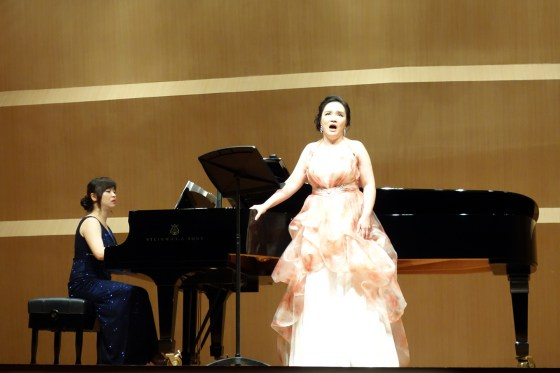 Kangnam University music professor, soprano Lee Bo Young and German School of Music Weimar director, pianist Yang Woo Hyung perform works by Robert and Clara Schumann at Sejong Center for the Performing Arts, Seoul. 14 September 2013. (Photo: Charles Ian Chun)
