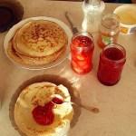 Breakfast at home in Bulgaria with my mother's homemade jam. (Photo: Velislava Aleksieva)