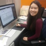 Kangnam University graduate Sodam Park works in her office at UEC in Cerritos, California. Photo courtesy of Sodam Park