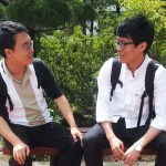 (from left) Park Seong and Song Chai-young (PHOTO: Han Jini)