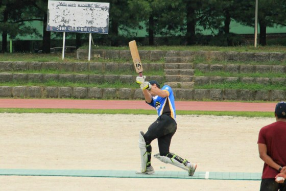 A batsman strikes (Photo: Kristen Sawyers)
