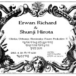 Erwan Richard & Shunji Hirota play Glinka, Debussy, Slonimsky, Faure, and Prokofiev, 30 April 2013, 6:30 pm, Concert Hall, Art Building, Kangnam University