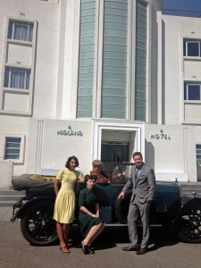 Outside the hotel at the press launch for Midland Vintage