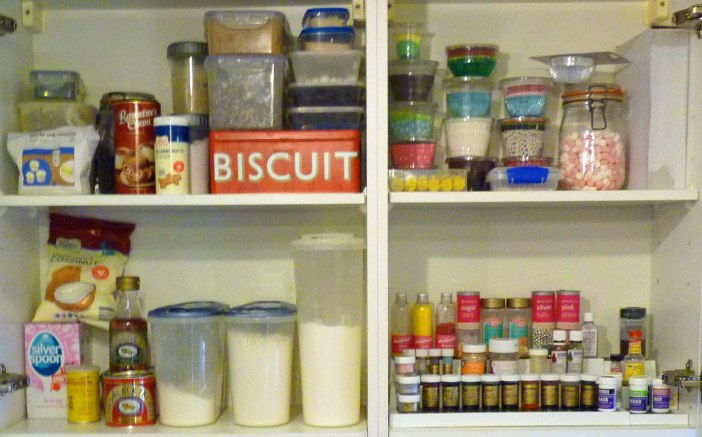 Sugar paste, Sprinkles and Glitter - Spoilt for choice in a bakers pantry