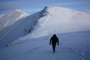 Leaving Grisedale Pike