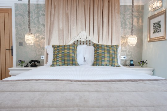 A Luxury Bedroom at The Wild Boar