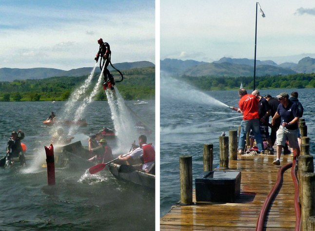 We made sure each Cardboad Boat was tested to breaking point with water cannons and jets.