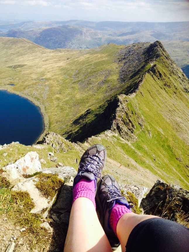 Helvellyn on my own by Jo Murphy