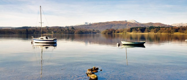Winter views from Waterhead Hotel
