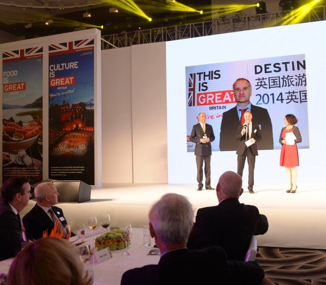 Colin Fox promoting the UK as Destination of choice