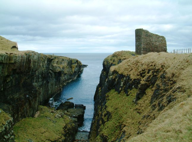 Old Castle in Wick Looking out to sea (Credit: Wikipedia)