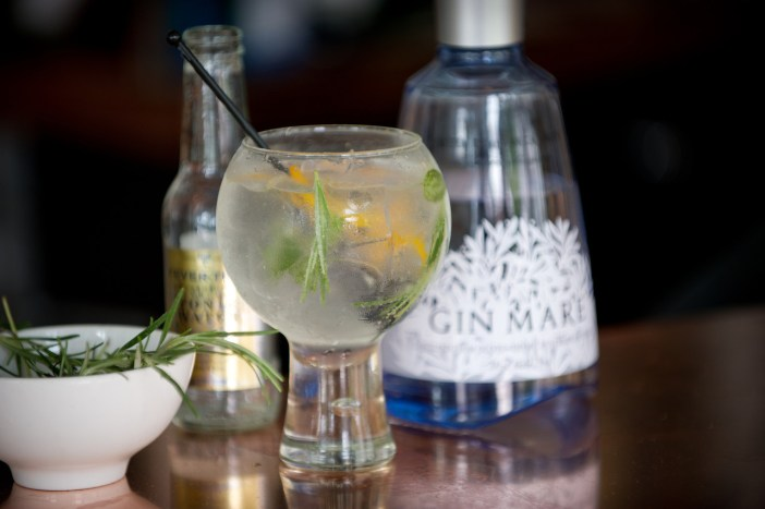 Gin Mare Served with Rosemary at Waterhead