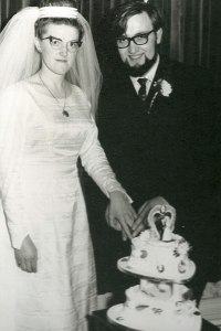 Colin & Margaret on their wedding day in 1965.