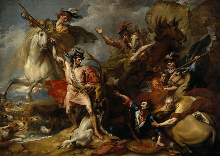 Alexander III of Scotland Rescued from the Fury of a Stag by the Intrepidity of Colin Fitzgerald ('The Death of the Stag') / Wikimedia