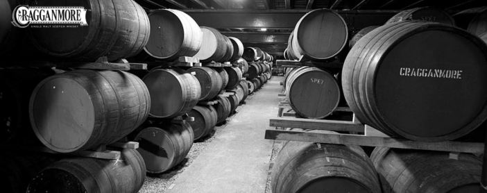 Cragganmore Barrels aging in a warehouse at the Distillery /
