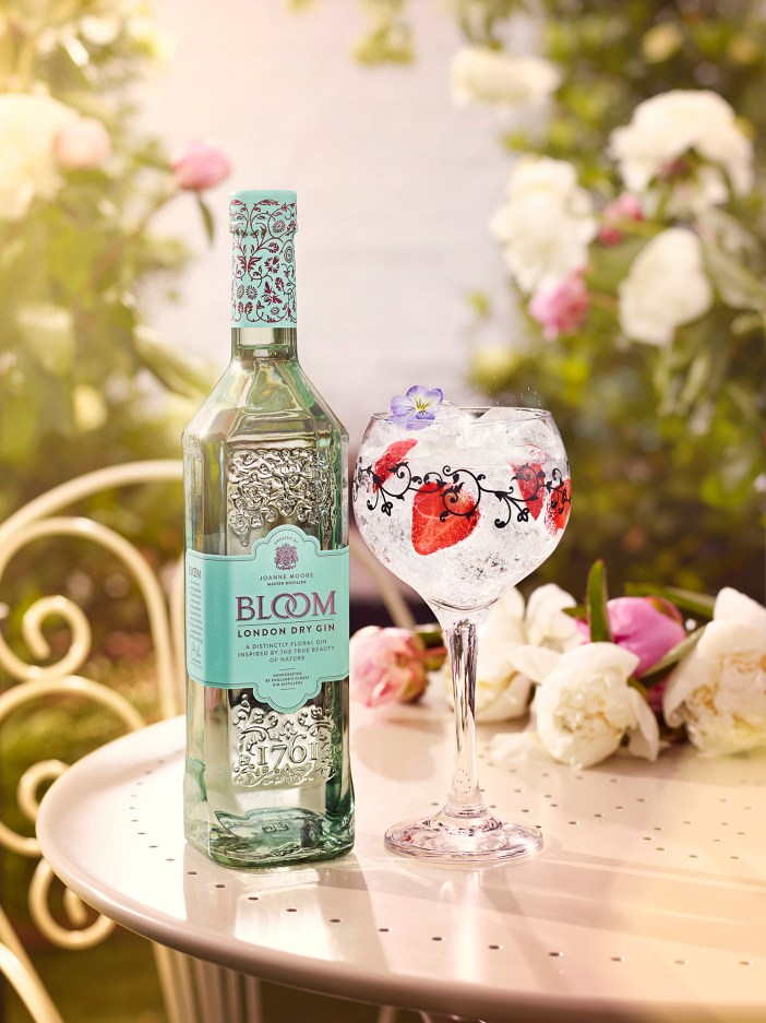A refreshing gin and tonic served in the garden