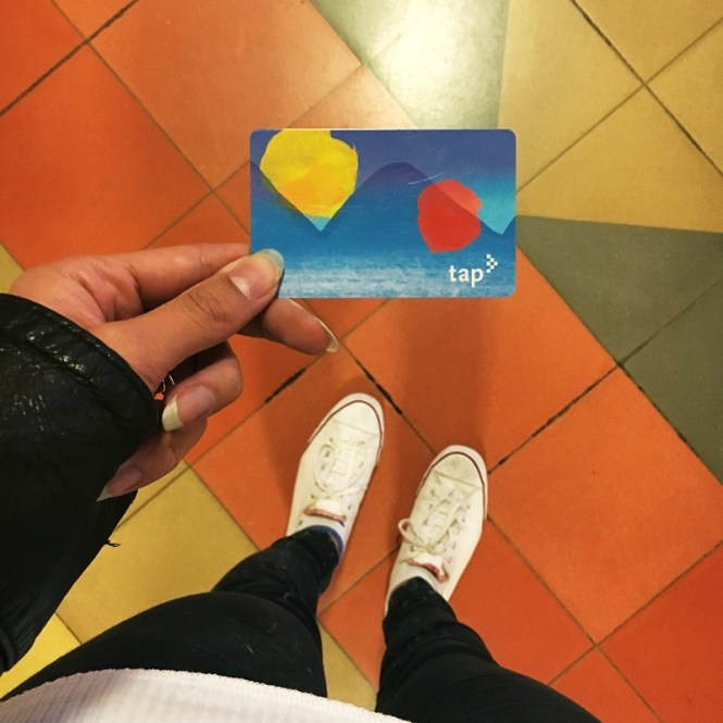 The good ol' tap card