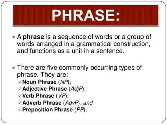 Phrase  English Grammar