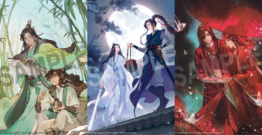 Seven Seas Licenses Three Blockbuster Chinese Novel Series from Mo Xiang Tong Xiu: THE SCUM VILLAIN'S SELF-SAVING SYSTEM, GRANDMASTER OF DEMONIC CULTIVATION, and HEAVEN OFFICIAL'S BLESSING