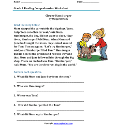 Reading Worksheets   First Grade Reading Worksheets [ 2200 x 1700 Pixel ]