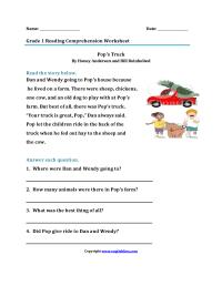 Worksheet. Comprehension For 1st Grade. Yaqutlab Free ...