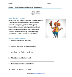 Reading Worksheets   First Grade Reading Worksheets [ 2200 x 1700 Pixel ]