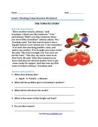 Worksheet. Unseen Comprehension For Grade 1. Yaqutlab Free ...