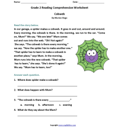 Reading Worksheets   Second Grade Reading Worksheets [ 2200 x 1700 Pixel ]