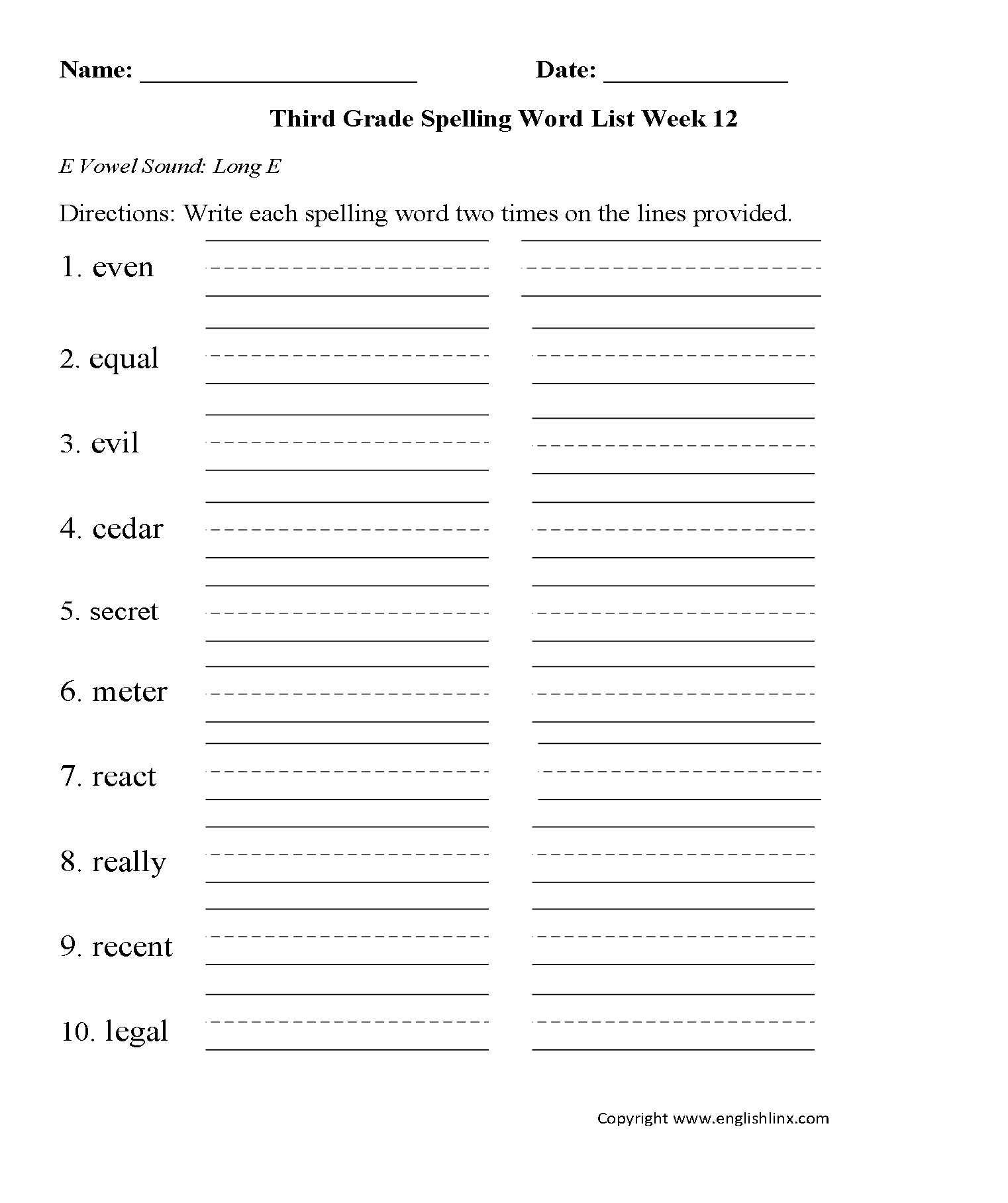 hight resolution of Content by Subject Worksheets   Spelling Worksheets