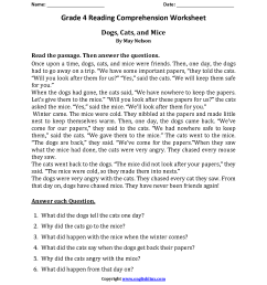 Reading Worksheets   Fourth Grade Reading Worksheets [ 2200 x 1700 Pixel ]